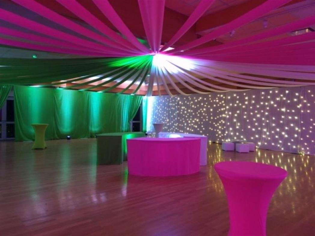 Salle Champagne Esterlin après décoration. Habits de Lumières 2016.